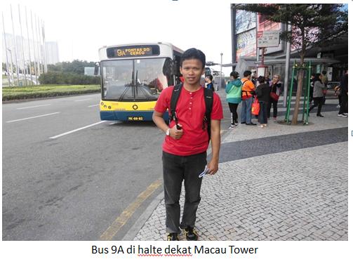 Bus 9A dekat macau tower