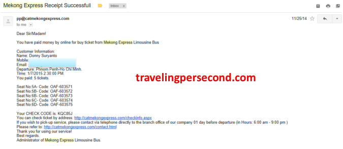 Mekong Express Email